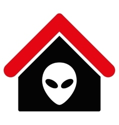 Alien Home Flat Icon vector
