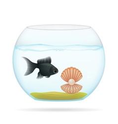 Aquarium with fish 04 vector
