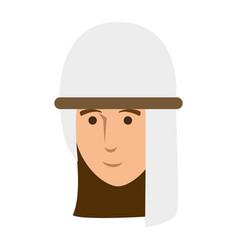 Arab character avatar icon vector