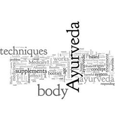 Benefits ayurveda vector