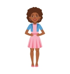 Black Young Woman Standing Part Of Growing Stages vector