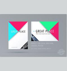Brochure design triangular template colourful vector
