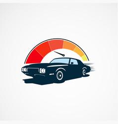 car speed logo designs concept for company vector image
