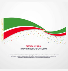 Chechen republic happy independence day background vector