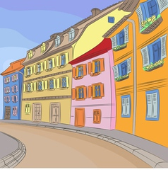Cityscape of old European city vector image