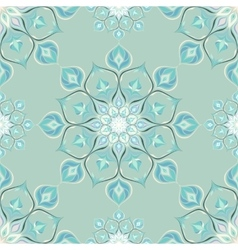 Colored mandala pattern with beautiful ornament vector image