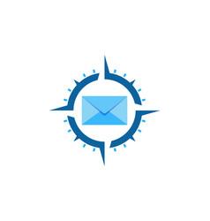 compass mail logo icon design vector image