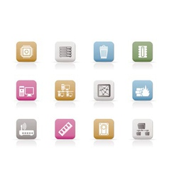 computer and website icons vector image