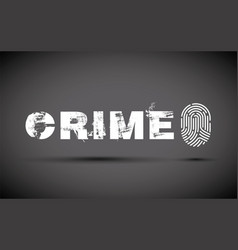 crime prevention with a fingerprint vector image