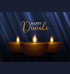 decorative diwali background vector image