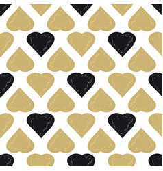 decorative seamless heart pattern vector image