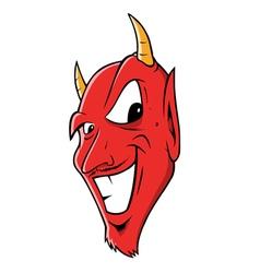 Devil grinning vector