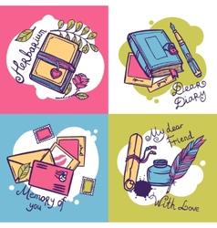 Diary Design Concept vector