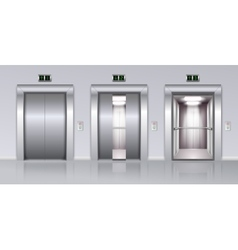 Elevators Realistic Composition vector