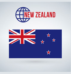 flag of the country new zeland isolated on modern vector image