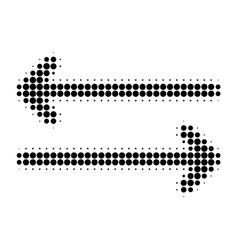 Flip arrows horizontally halftone dotted icon vector