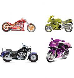 Four bikes vector