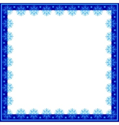 Frame of snowflakes vector image