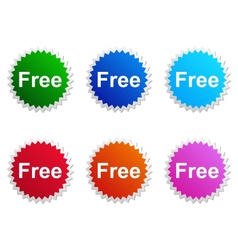 Free label vector image vector image