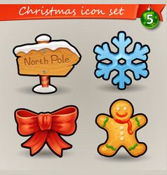 funny christmas icons-5 vector image