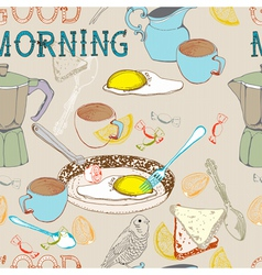 good morning seamless background vector image