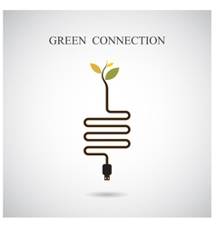 Green connection concept vector image