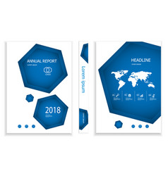 hexagon business brochure design template vector image