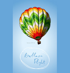 hot air balloons various colored in the sky vector image