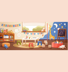 kindergarten room interior flat vector image