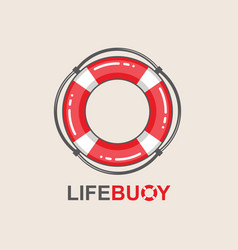 Lifebuoy design element vector