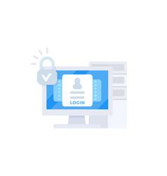Login authentication vector