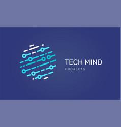 Logo - technology tech icon and symbol vector