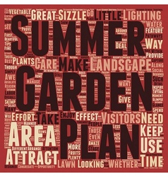 Make Your Summer Garden Sizzle text background vector