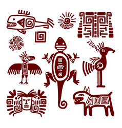 Maya or indian traditional signs vector