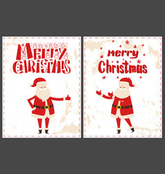 merry christmas happy new year lettering wishes vector image