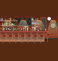 nterior of pub cafe or bar vector image