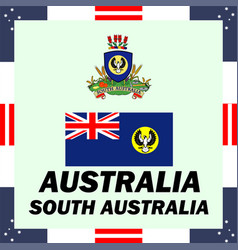 official government elements of australia - south vector image