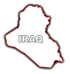 Outline map of iraq vector