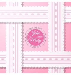 Pink background with vintage realistic pink and vector image