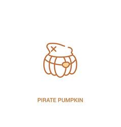 Pirate pumpkin concept 2 colored icon simple line vector