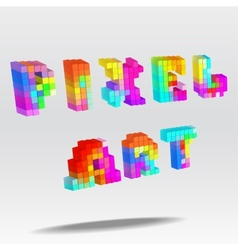 Pixel art text vector