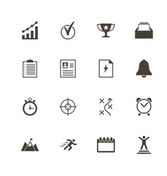 Planing organization - flat icons vector