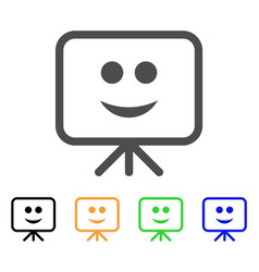 projection board smile icon vector image
