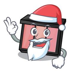 Santa eye shadow above character dressing table vector