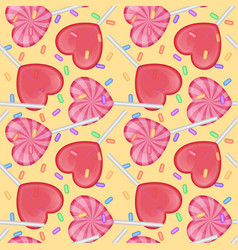 seamless endless pattern with candy with shape vector image