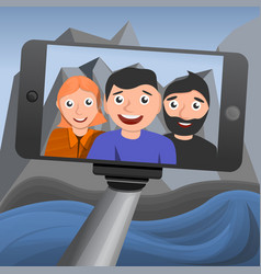 selfie concept background cartoon style vector image