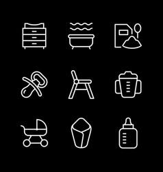 set line icons bagoods vector image