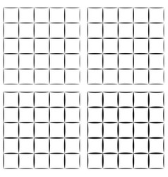 Set seamless pattern grid tiles grid cells vector