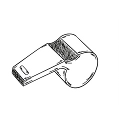sketch of the whistle vector image
