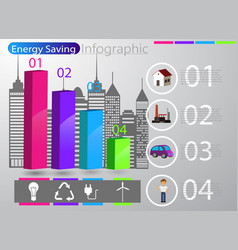 Smart energy use infographic concept vector